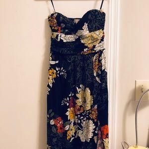 Strapless Maxi Dress w Split